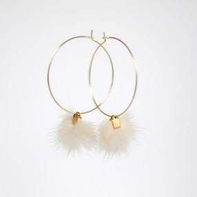 Boucles d'oreilles plumes Tsarine