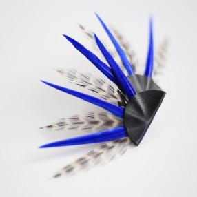Boucles d'oreilles plumes Rebel noir/bleu