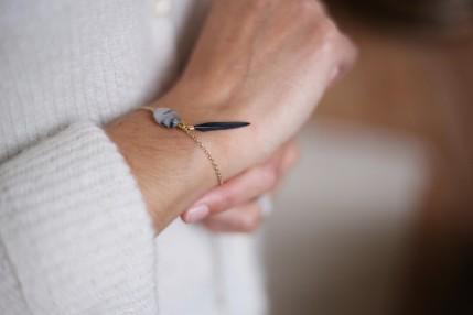 bracelet Quartz Rutile du Brésil