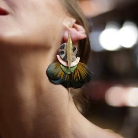 Boucles d'oreilles plumes Palma