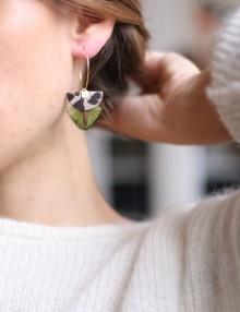 Boucles d'oreilles plumes Pia Or Rose