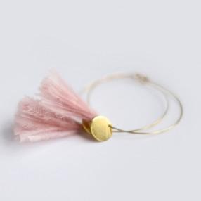 Boucles d'oreilles plumes Sweet Rose