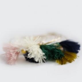 Boucles d'oreilles plumes Sweet Emeraude