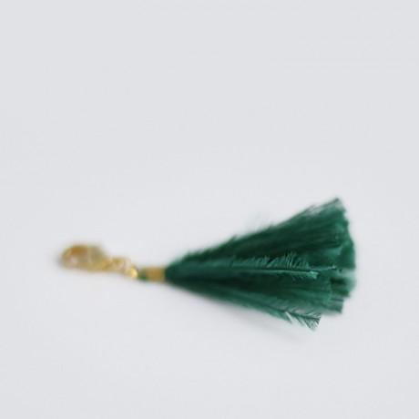 Charm's pompon SWEET plumes d'autruche Emeraude