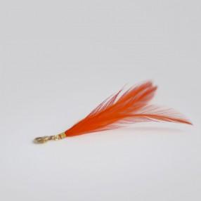Charm's pompon plumes de coq Orange
