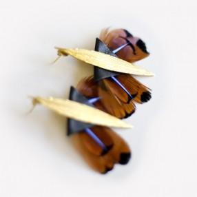 boucles d'oreilles plumes danaïde