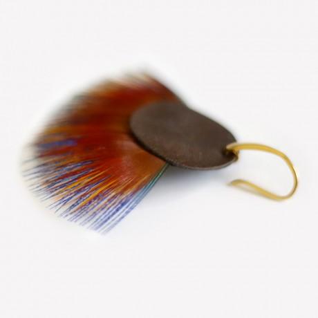 boucles d'oreilles plumes Mondrian