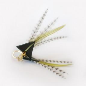 boucles d'oreilles plumes Tamara vert