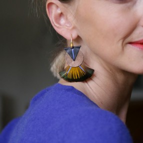 boucles d'oreilles plumes Savuka