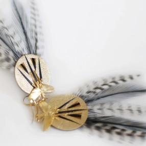 boucles d'oreilles plumes lempicka