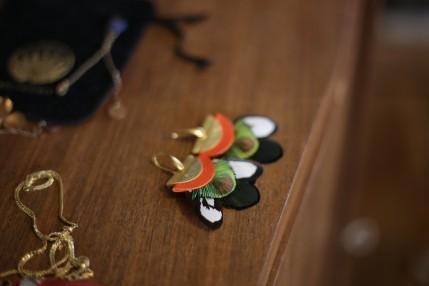 boucles d'oreilles plumes byzance